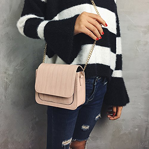 Pink Bag Shoulder Bags Bags Crossbody Chain Solid Fashion Casual Body Single Women Bags body Bags Female Waist Body Slim Purse Messenger Bags Cross TUDUZ Shoulder Cute Handbag Small Handbag faqR4Ex