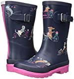 Joules Girls' Printed Welly Rain Boot, Cycling