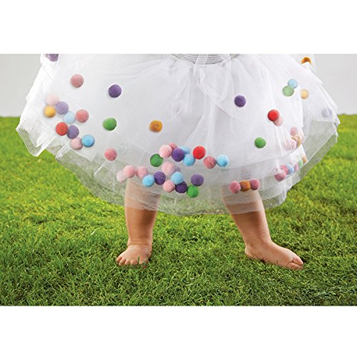 Stephan Baby Tutu with Jelly Bean-Colored Floating Pom-Poms,