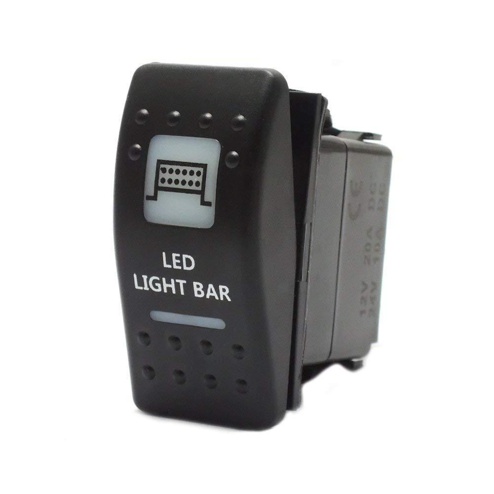 Led Light Bar Rocker Switch For Utv Polaris Ranger Rzr Can Am Wiring Diagram Commander Maverick Automotive