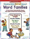 Word Families, Liane Onish, 0439465958
