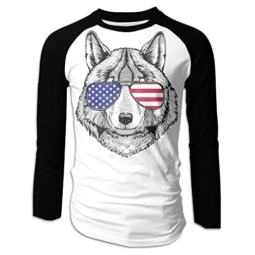 RT-rock Wolf Dog 04.PNG Customize Your Long-Sleeved T-Shirt White S (Customize Shirts Dog)