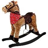Schaukelspielzeug Schaukelpferd aus Textil Cordbezug Pferd 74 cm 4102