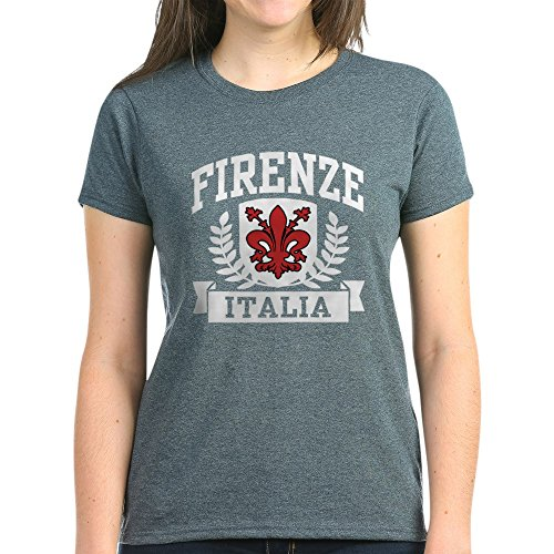 CafePress Firenze Italia Womens Cotton T-Shirt Charcoal Heather