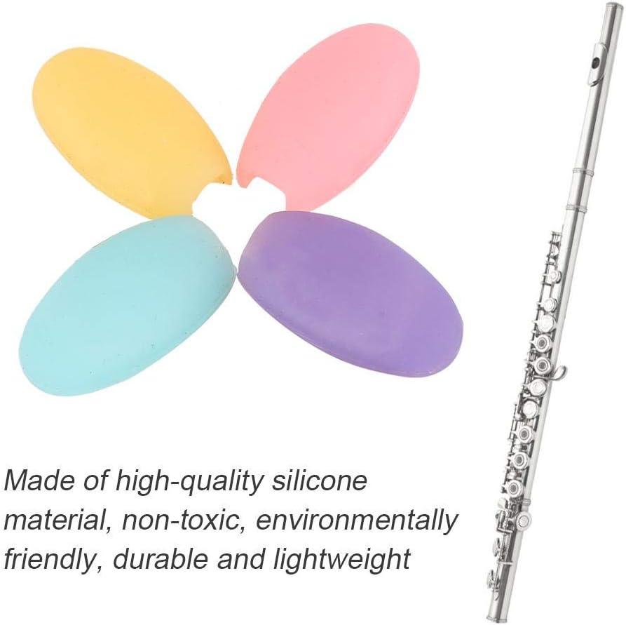 WANGYUMI Thumb Rest 4pcs Flute Finger Rest Dizi Protector Musical Woodwind Parts Accessory