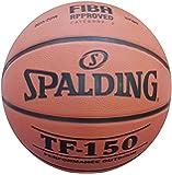 Spalding Tf-150 Basketbol Topu Perform Size 7 Fiba Logolu (83-572Z), Unisex, Turuncu/Siyah, Au