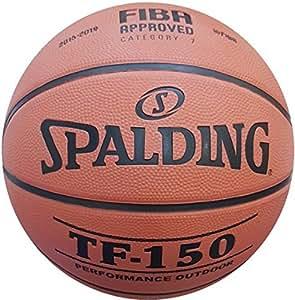 Spalding Tf-150 Basketbol Topu Perform Fiba Logolu (83-599Z), Turuncu/Siyah, 5 Numara
