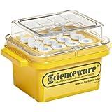 "Bel-Art F18846-0020 -15ºC Cryo-Safe Polycarbonate Mini Cooler; For 0.5-2.0 ml Tubes, 12 Places, 53/4 x 4 x 33/4"""