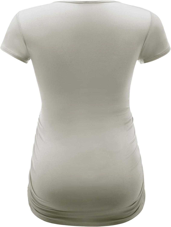 LAPASA Donna maternit/à Maglietta Allattamento a Maniche Corte T-Shirt Super Soft L55