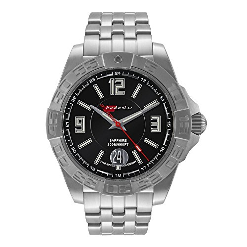 Isobrite ISO701 Executive Series Stainless Steel Watch Mens Executive Stainless Steel Watch