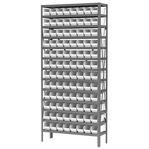 Akro-Mils AS1279120W Steel Shelving Kit, 96 Bins, 12