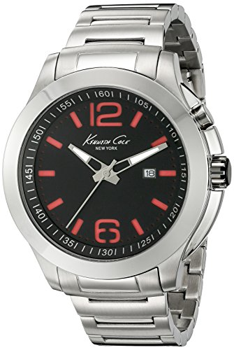 Kenneth Cole New York Men's 10022557 Technology- Backlight Analog Display Japanese Quartz Silver Watch (Cole Kenneth Watch Date)