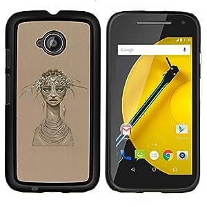 Jordan Colourful Shop - African Woman For Motorola Moto E 2nd Generation Personalizado negro cubierta de la caja de pl????stico