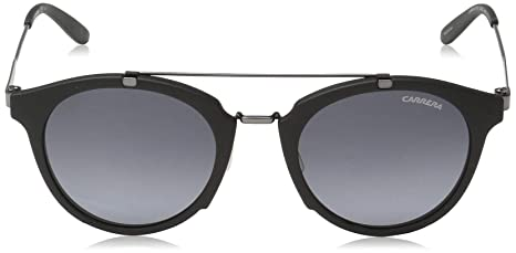 41ed662fc3 Amazon.com  Carrera Men s Ca126s Round Sunglasses Black Dark Ruthenium gray  Gradient 49 mm  Clothing