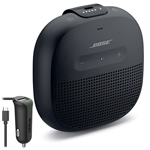Bose SoundLink Micro Waterproof Bluetooth Speaker, Black, with Micro USB Car Charger by Bose