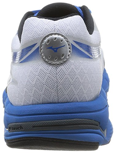 Mizuno Wave Connect 2, Herren Laufschuhe, Blanc (white/black/directoire Blue), 44 EU