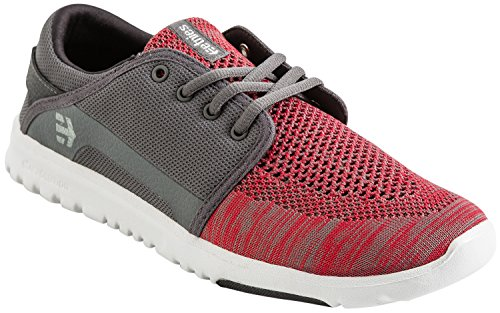 Etnies Scout Yb, Color: Dark Grey/Red, Size: 42 EU (9 US / 8 UK)