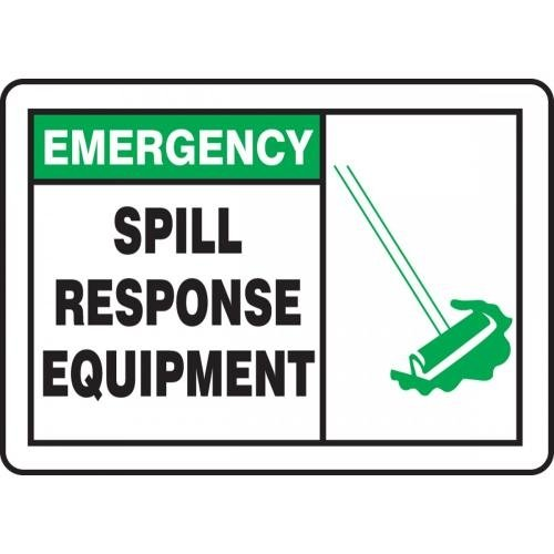 MCHL908XF 7 x 10 Inches AccuformEmergency Spill Response Equipment Safety Sign Dura-Fiberglass