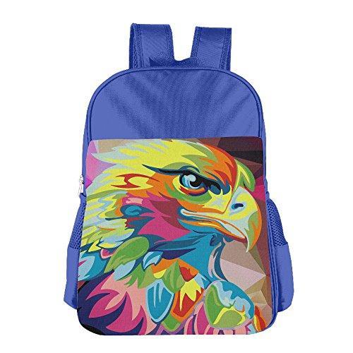 Gibberkids Kid Eagle Hawk Oil Painting Colored School Lunch Bag Bookbag Boys/Girls For 4-15 Years Old - Hawk For Girls Backpack