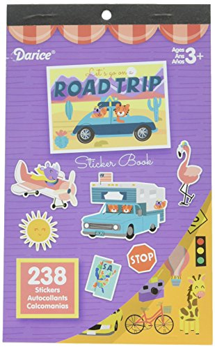 Darice Let's Go Book-238 Road Trip Sticker Book