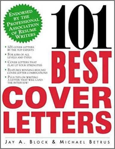 101 Best Cover Letters Amazonde Jay Block Michael Betrus