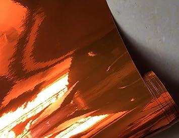 Pellicola a Specchio cromato Schermo Stretchable cromato Arancione per applicazione 3d car wrapping