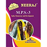 MPS3-India: Democracy and Development (IGNOU help book for MPS-3 in English Medium)