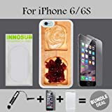 Peanut butter and Jelly Custom iPhone 6 Cases/6S Cases-White-Rubber,Bundle 3in1 Comes with HD Tempered Glass/Universal Stylus Pen by innosub