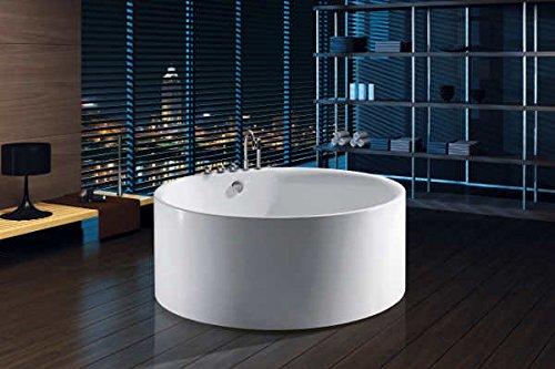 Dimensioni Vasca Da Bagno Circolare : Vasca da bagno freestanding rotonda circolare idra diametro 150 cm