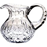 Majestic Gifts 15-Ounce Cut Crystal Pitcher with Handle, Small, Plaza