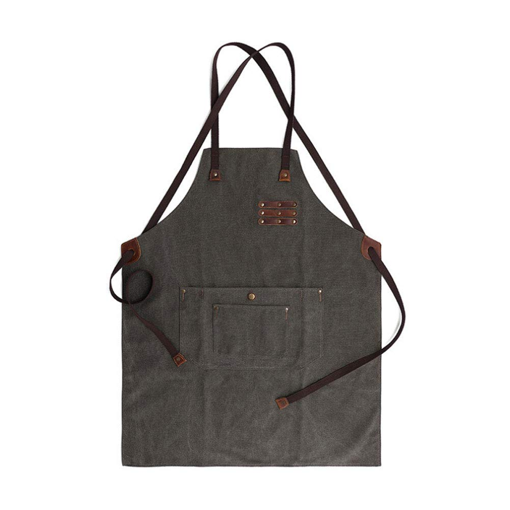 MOXIN Unisex Carpenter Apron Soft and Ventilated Suit Canvas Waterproof Function for Kitchen, Garden, Pottery, Garage Luxury Tool Work Aprons,ArmyGreen