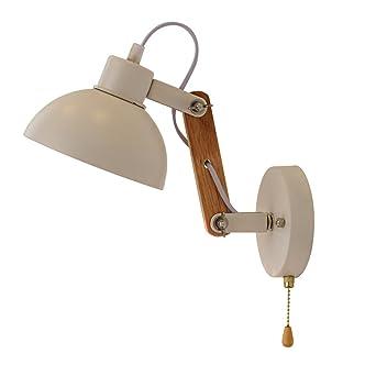 KMYX Moderne Holz versenkbare Wandleuchte einstellbare Licht Arm ...