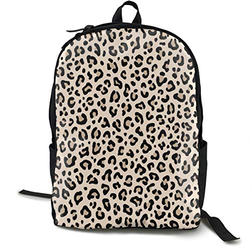 (Backpacks Casual Packback BLACK And WHITE LEOPARD - LEOPARD PRINT In ECRU Tiny Scale Collection Leopard Spots - Punk Rock Animal Print_136 Daypack for Cycling Hiking Camping Travel Outdoor)
