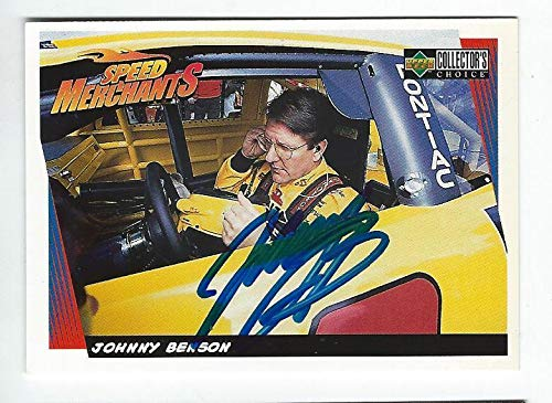 Collector Nascar Cards - Johnny Benson Signed 1998 Collectors Choice Card #30 NASCAR - Upper Deck Certified - Autographed NASCAR Cards