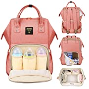 Sunveno Mummy Maternity Nappy Bag Brand Large Capacity Baby Bag Travel Backpack Desiger Nursing Bag for Baby Care Pink
