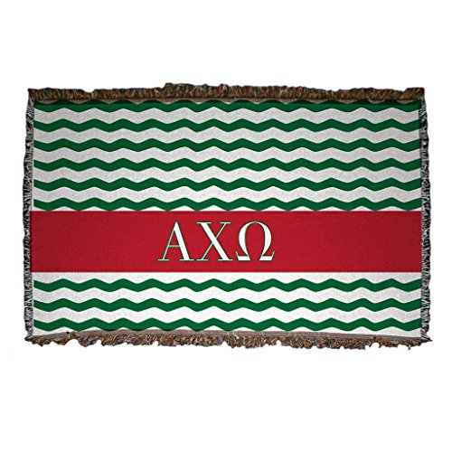 VictoryStore Alpha Chi Omega Woven Blanket Design 1