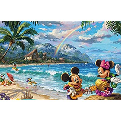 Ceaco Thomas Kinkade The Disney Collection Mickey and Minnie in Hawaii Jigsaw Puzzle, 750 Pieces: Toys & Games