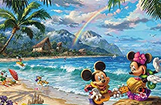 product image for Ceaco Thomas Kinkade The Disney Collection Mickey and Minnie in Hawaii Jigsaw Puzzle, 750 Pieces