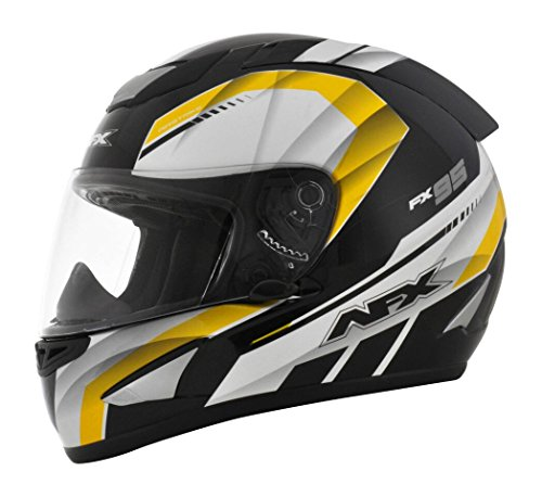 AFX FX-95 Airstrike Mens Motorcycle Helmets - Black/Yellow - Large