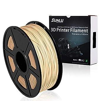 SUNLU 3d impresora filamento 1,75 mm 1 kg de madera (2,2 lbs ...