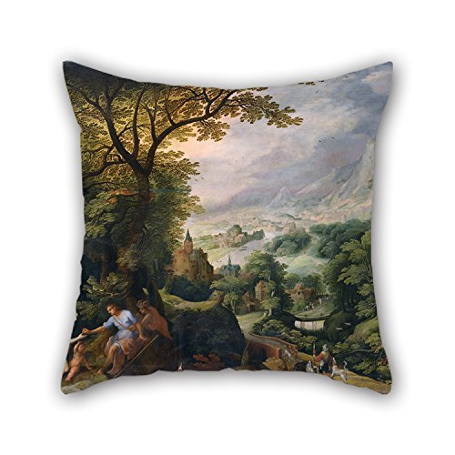 Uloveme Cushion Cases Of Oil Painting Gillis Van Coninxloo - Landscape With The Judgement Of Paris,for Wife,deck Chair,gf,coffee House,indoor,husband 18 X 18 Inches / 45 By 45 Cm(twin Sides)