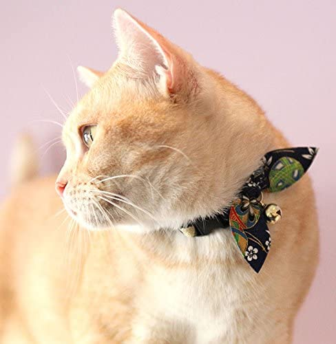 Amazon.com: necoichi oribon Kimono Bow Tie Gato Collar, Azul ...