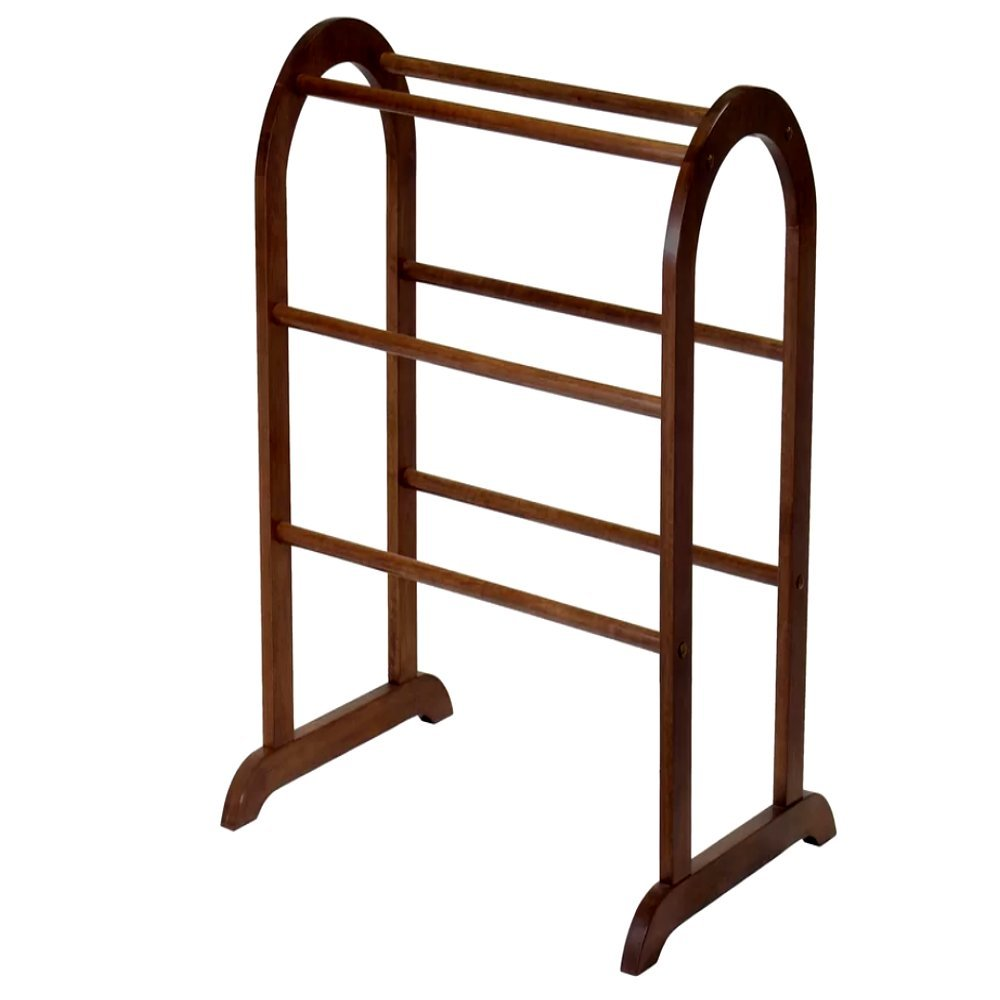 Quilt Racks Free Standing Wood, Contemporary Rustic Simple Traditional Six Bar Scroll Rack & E-Book