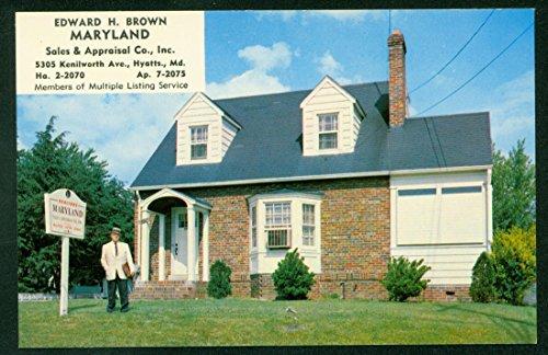 Advertising Postcard REALTOR Edward H Brown HYATTS Vintage - Hyatt Locations International