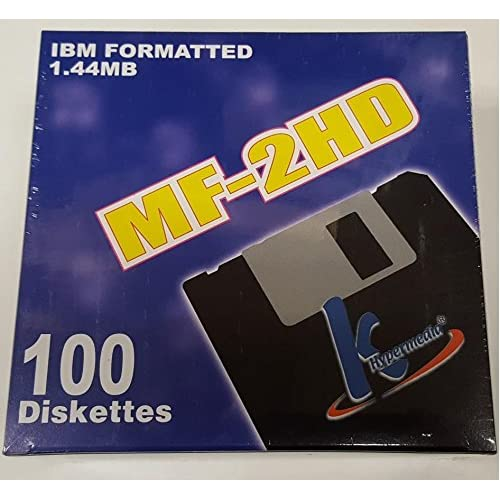 100 Floppy Disks 3.5-Inch DS-HD IBM PC Formatted