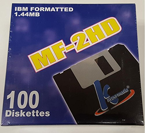 100 Floppy Disks 3.5-Inch DS-HD IBM PC Formatted by KHypermedia