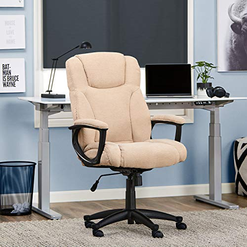 Serta Style Hannah II Office Chair, Woven Fabric, Beige