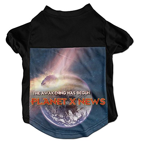 Nibiru News Earth Funny Customized Printed Dog Clothes For Pet Apparel