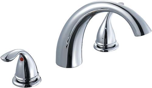 Glacier Bay Builders 2-Handle Deck-Mount Roman Tub Faucet in Polished Chrome