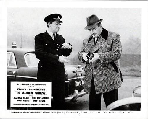 Scales of Justice Material Witness lobby card Reginald Marsh Oxford police - Scale Oxford